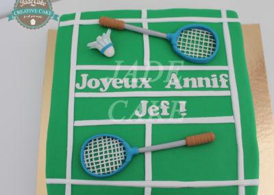 gâteau adulte jade cake sport badmington(79)