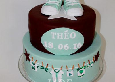 gâteau baby shower naissance communion baptême fête anniversaire bébé enfant jade cake brabant wallon macaron rose (10)