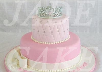 gâteau baby shower naissance communion baptême fête anniversaire bébé enfant jade cake brabant wallon macaron rose (12)