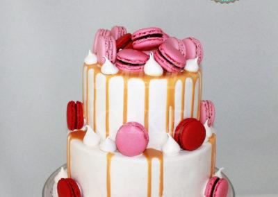 gâteau baby shower naissance communion baptême fête anniversaire bébé enfant jade cake brabant wallon macaron rose (14)