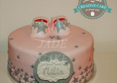 gâteau baby shower naissance communion baptême fête anniversaire bébé enfant jade cake brabant wallon macaron rose (6)