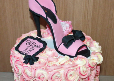 gâteau fille fête anniversaire jade cake escarpin femme