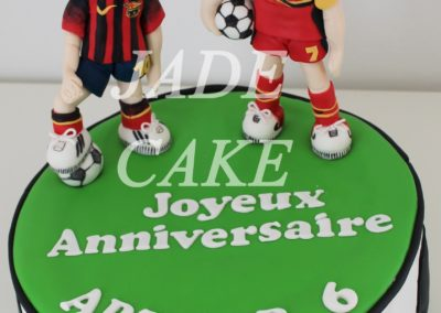 gâteau garçon foot anniversaire fête brabant wallon jade cake