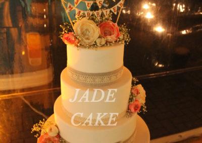 gâteau mariage wedding cake anniversaire fête jadecake pièce montée brabant wallon (81)