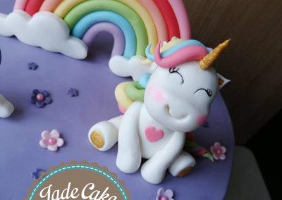 gâteau personnalisé fille bébé anniversaire fête jade cake brabant wallon pâte à sucre (2)