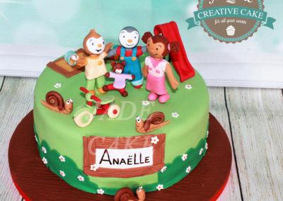 gâteau personnalisé fille bébé anniversaire fête jade cake brabant wallon pâte à sucre (23)