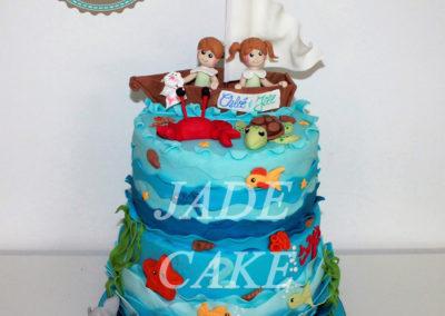gâteau personnalisé fille bébé anniversaire fête jade cake brabant wallon pâte à sucre (25)