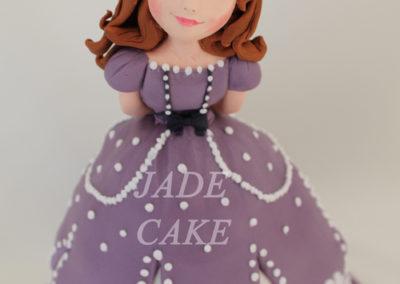 gâteau personnalisé fille bébé anniversaire fête jade cake brabant wallon pâte à sucre (31)
